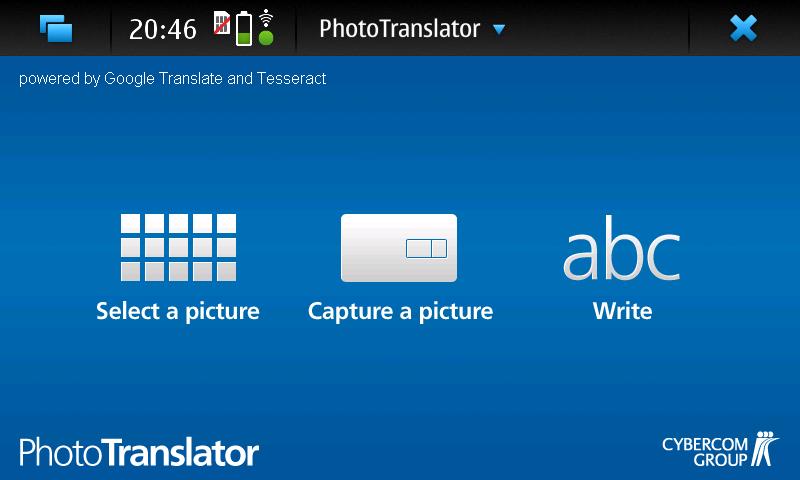 PhotoTranslator - Start