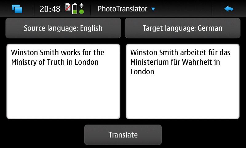PhotoTranslator - Übersetzung
